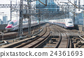 E6 and E4 bullet(High-speed or Shinkansen) trains. 24361693