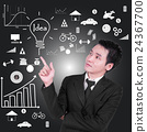businessman is thinking about business idea concep 24367700
