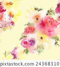 Roses and lilies seamless pattern. 24368310