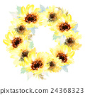 Watercolor sunflowers 24368323
