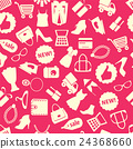 background with colorful shopping icons 24368660