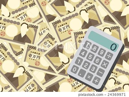 Calculator Money Paper 24369971