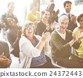 Audience Applaud Clapping Happines Appreciation Training Concept 24372443