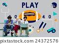 Play Quarterback Rugby American Football Concept 24372576