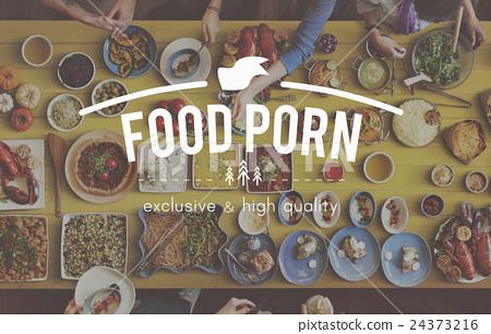Foodie Food Porn Meal Eating Concept 24373216