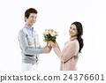 꽃다발, 커플, 여성 24376601