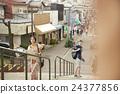 外国游客观光Tanoya 24377856