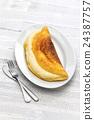 煎蛋捲 蛋 雞蛋準備的實物 24387757