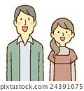 年輕的男人和女人笑 24391675
