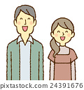 年輕的男人和女人帶著微笑 24391676