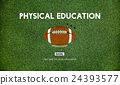 Quarterback Physical Education Rugby Sport Concept 24393577