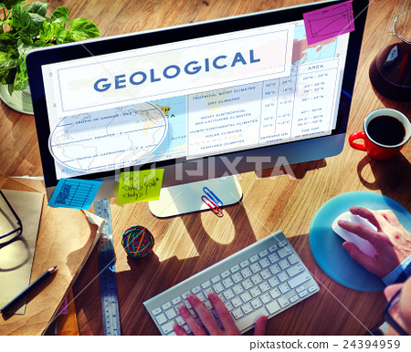 Continents Coordinates Exploration Geological Cartography Concept 24394959