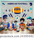 American Football Competition Game Goal Play Concept 24395092