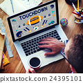 Touchdown American Football Rugby Game Concept 24395101