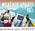 Weather Update Temperature Forecast News Meteorology Concept 24395797