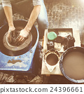 Craftsman Artist Pottery Skill Workshop Concept 24396661