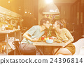 Couple Eating Food Feeding Sweet Concept 24396814