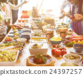 Catering Eating Companionship Buffet Festive Concept 24397257