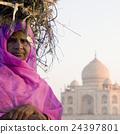 Indigenous Indian Woman Taj Mahal Tomb Concept 24397801