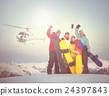 Snowboarders Success Sport Friendship Snowboarding Concept 24397843