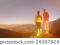 Adventurists Enjoyong a Beautiful Sunrise, Queenstown, New Zealand 24397924