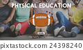 Quarterback Physical Education Rugby Sport Concept 24398240
