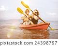 Kayaking Adventure Happiness Recreational Pursuit Couple Concept 24398797