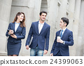 business people walk on road 24399063