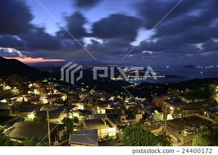 台灣,九份,夜景,燈火 24400172