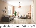 interior, modern, living 24406521