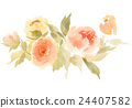 Flowers watercolor illustration 24407582