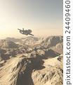 spaceship, flying, desert 24409460