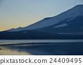 山中湖 富士山 傍晚 24409495