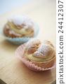 奶油泡芙 甜点 甜品 24412307