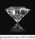 Diamond on the black background 24414968