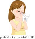 Pregnant Woman Flu 24415701