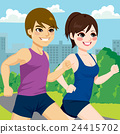 Couple Jogging Park 24415702