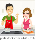 Couple Cooking Together 24415716
