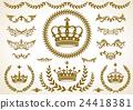 皇冠,月桂樹,裝飾套 24418381