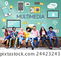 Multimedia Communication Connection Technology Devices Concept 24423243