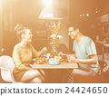 Couple Eating Food Meal Dating Romance Love Concept 24424650