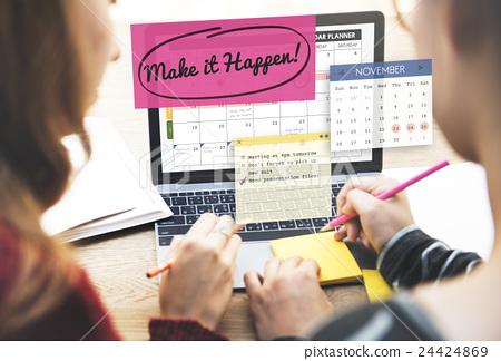 Make it Happen Change Effect Impact Proactive Concept 24424869