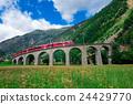 Swiss mountain train Bernina Express  24429770