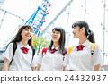 高中生 遊樂園 主題公園 24432937