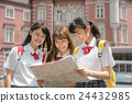 girl, three person, high school student 24432985