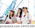 高中女生 游乐园 主题公园 24433104