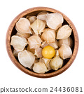 Physalis in a bowl over white 24436081