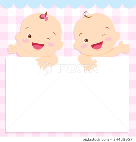 baby boy and girl space frame - Stock Illustration [24438957] - PIXTA