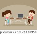 girl, computer, boy 24438958