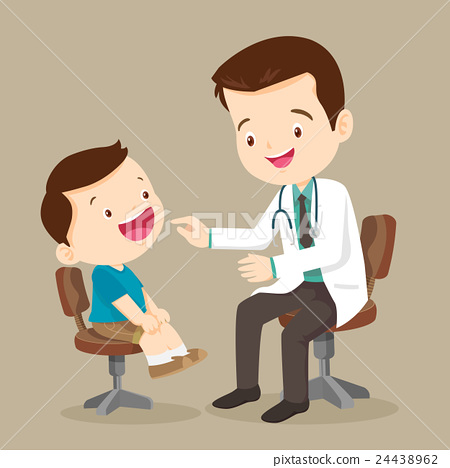 Cute boy see Doctor 24438962